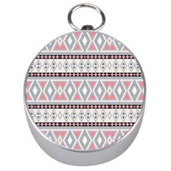 Fancy Tribal Border Pattern Soft Silver Compasses by ImpressiveMoments