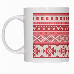 Fancy Tribal Borders Pink White Mugs by ImpressiveMoments