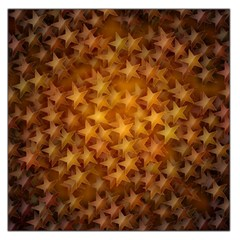 Gold Stars Large Satin Scarf (square) by KirstenStar