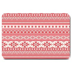 Fancy Tribal Borders Pink Large Doormat  by ImpressiveMoments