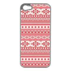 Fancy Tribal Borders Pink Apple Iphone 5 Case (silver)
