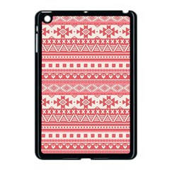 Fancy Tribal Borders Pink Apple Ipad Mini Case (black)