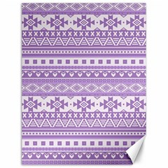 Fancy Tribal Borders Lilac Canvas 12  X 16   by ImpressiveMoments