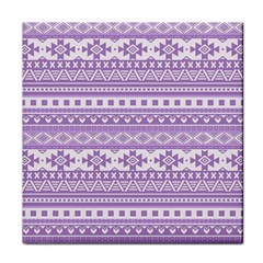 Fancy Tribal Borders Lilac Face Towel by ImpressiveMoments