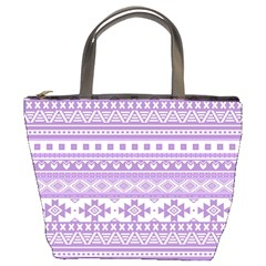 Fancy Tribal Borders Lilac Bucket Bags by ImpressiveMoments