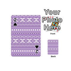 Fancy Tribal Borders Lilac Playing Cards 54 (mini)