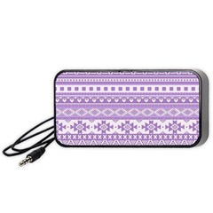 Fancy Tribal Borders Lilac Portable Speaker (black)