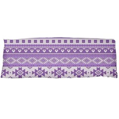 Fancy Tribal Borders Lilac Body Pillow Cases (dakimakura)