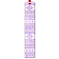 Fancy Tribal Borders Lilac Large Book Marks