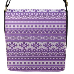 Fancy Tribal Borders Lilac Flap Messenger Bag (s) by ImpressiveMoments