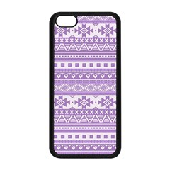 Fancy Tribal Borders Lilac Apple Iphone 5c Seamless Case (black) by ImpressiveMoments