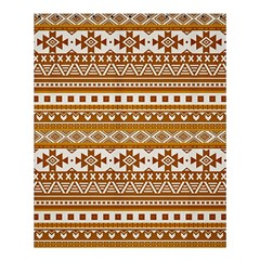 Fancy Tribal Borders Golden Shower Curtain 60  X 72  (medium)  by ImpressiveMoments