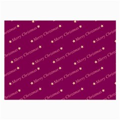 Merry Christmas,text,bordeaux Large Glasses Cloth (2 Side) by ImpressiveMoments
