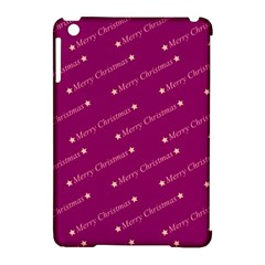Merry Christmas,text,bordeaux Apple Ipad Mini Hardshell Case (compatible With Smart Cover) by ImpressiveMoments