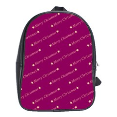 Merry Christmas,text,bordeaux School Bags (xl)  by ImpressiveMoments