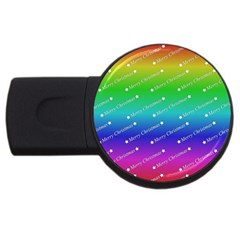 Merry Christmas,text,rainbow Usb Flash Drive Round (2 Gb)  by ImpressiveMoments