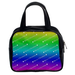 Merry Christmas,text,rainbow Classic Handbags (2 Sides)