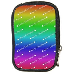 Merry Christmas,text,rainbow Compact Camera Cases by ImpressiveMoments