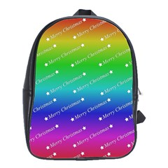 Merry Christmas,text,rainbow School Bags(large)  by ImpressiveMoments