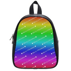 Merry Christmas,text,rainbow School Bags (small)  by ImpressiveMoments