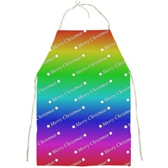 Merry Christmas,text,rainbow Full Print Aprons by ImpressiveMoments