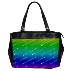 Merry Christmas,text,rainbow Office Handbags by ImpressiveMoments