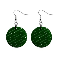 Merry Christmas,text,green Mini Button Earrings by ImpressiveMoments