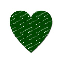 Merry Christmas,text,green Heart Magnet by ImpressiveMoments