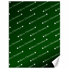 Merry Christmas,text,green Canvas 12  X 16   by ImpressiveMoments