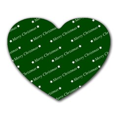 Merry Christmas,text,green Heart Mousepads by ImpressiveMoments