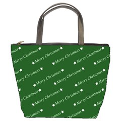 Merry Christmas,text,green Bucket Bags by ImpressiveMoments