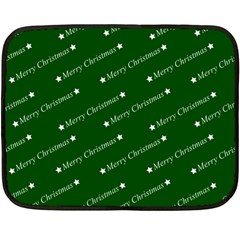 Merry Christmas,text,green Double Sided Fleece Blanket (mini)  by ImpressiveMoments