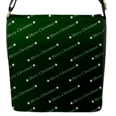 Merry Christmas,text,green Flap Messenger Bag (s) by ImpressiveMoments