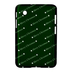 Merry Christmas,text,green Samsung Galaxy Tab 2 (7 ) P3100 Hardshell Case  by ImpressiveMoments