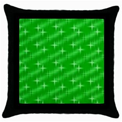 Many Stars, Neon Green Throw Pillow Cases (black) by ImpressiveMoments