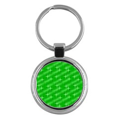 Many Stars, Neon Green Key Chains (round)  by ImpressiveMoments