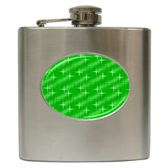 Many Stars, Neon Green Hip Flask (6 Oz) by ImpressiveMoments