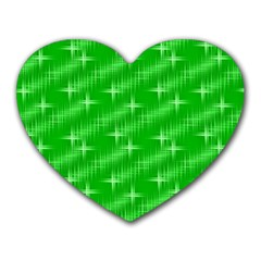 Many Stars, Neon Green Heart Mousepads by ImpressiveMoments