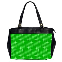 Many Stars, Neon Green Office Handbags (2 Sides)  by ImpressiveMoments