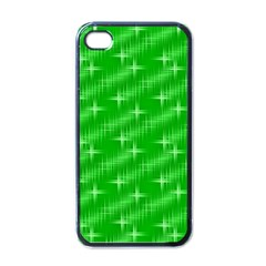 Many Stars, Neon Green Apple Iphone 4 Case (black) by ImpressiveMoments