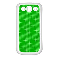 Many Stars, Neon Green Samsung Galaxy S3 Back Case (white) by ImpressiveMoments