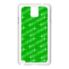 Many Stars, Neon Green Samsung Galaxy Note 3 N9005 Case (white) by ImpressiveMoments