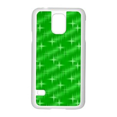 Many Stars, Neon Green Samsung Galaxy S5 Case (white) by ImpressiveMoments
