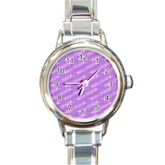 Many Stars, Lilac Round Italian Charm Watches