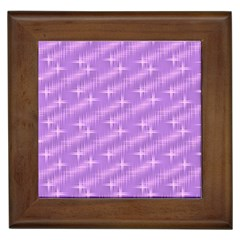 Many Stars, Lilac Framed Tiles