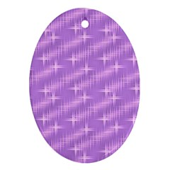 Many Stars, Lilac Ornament (Oval)