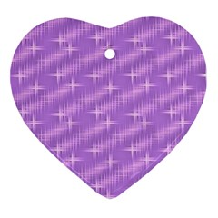 Many Stars, Lilac Ornament (Heart)