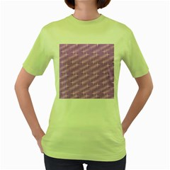 Many Stars, Lilac Women s Green T-Shirt
