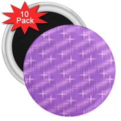 Many Stars, Lilac 3  Magnets (10 pack)