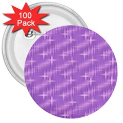Many Stars, Lilac 3  Buttons (100 pack)